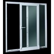 Раздвижные двери из ПВХ фото