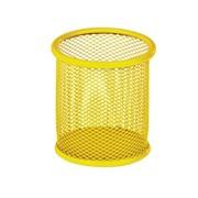 Подставка для ручек круглая, металлическая, желтая Zibi
