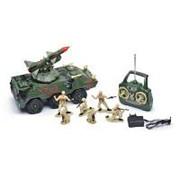 """Р/У игрушка """"Вездеход с ракетой"""" MioshiArmy (30см, с фигурками, 4 солдата и 2 собаки, поворот башни, подсветка, звук) фото"""