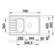 """Кухонная мойка """"Blanco"""" Livit 6 S Compact , полированная сталь"""