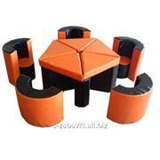 """Мягкие модули """"Мебель Арена"""" со столом и стульями фото"""