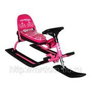 """Снегокат 106 comfort """"vanessa"""" розовый со складной спинкой авитекс (832233) фото"""
