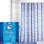 Шторка для ванной VETTA (HSP 061) 180 х 180 (полиэстер) полосы и цветы го фото