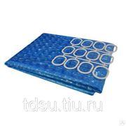 Шторка для ванной (3D-1) 180 х 180 (EVA) голубая фото