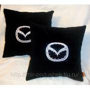 Подушка с логотипом Mazda фото