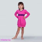 Платье с бантиком (розовое) фото