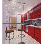 Дизайн кухни в 3D фото