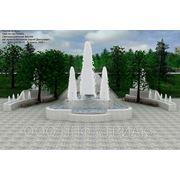 Индивидуальный проект городского фонтана фото