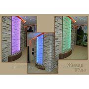 Водопады по стеклу(зеркалу),водно-пузырьковые панели и колонны фото