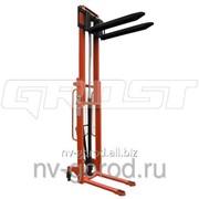 Штабелер гидравлический Grost НDR 10/20 (ручной, грузоподъемность 1000 кг, Высота подъема 2000 мм) фото