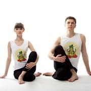 Майка для йоги (унисекс) с рисунком «Золотой Ганеш» фото