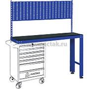 Верстак инструментальный под тележку, задняя панель, синий МАСТАК 542-11500B фото