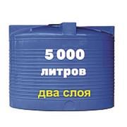 Бак для котлов отопления, питьевой воды и дизеля 5000 литров, синий, верт фото