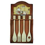 """Коллаж-набор для кухонных принадлежностей """"Розы"""" 21*40*4см 32483 фото"""