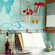 Стикер Komar 17017 бабочки голубые фото