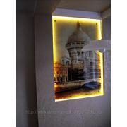 Панно с подсветкой из стекла фото