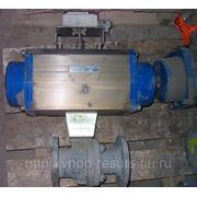 Кран шаровый DN50 Ру16/40 с пневмоприводом