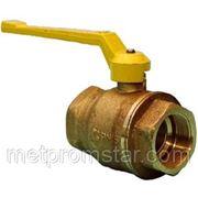 Кран Ду 20 шаровой В116FF «WECОST» (Италия) латунный никелированный полнопроходной присоединение: муфта-муфта, рукоятка - «рычаг» фото