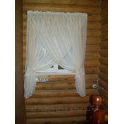 Пошив штор из органзы фото