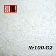 Жидкие обои из хлопка 100 G-2 Белый с золотой соломкой фото