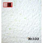 Отделка стен № 103-белый с зелеными крапинками фото