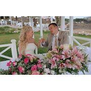Свадьба на Кипре в беседке отеля Golden Bay Beach 5*, Ларнака фото
