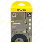 USB Data кабель Awei CL-23 2m Type-C фото