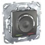 Термостат теплого пола ,выносной термодатчик (графит) фото