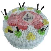 Детский торт Бегемотик фото