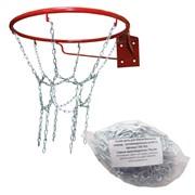 Антивандальная сетка - цепь для баскетбольного кольца No-5 и No-7, на 6 мест, облегченная фото