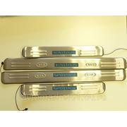 Накладки порогов с подсветкой (компл.4шт.) Kia Sportage фото