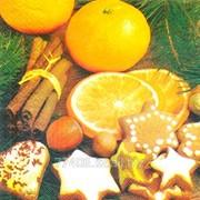 Салфетка для декупажа Апельсин с корицей фото