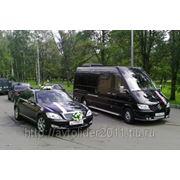 Свадебный кортеж из микроавтобусов. фото