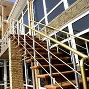 Ограждения балконов, лестниц из анодированного алюминия фото