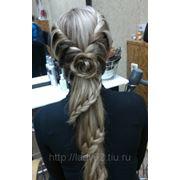 Прическа из кос фото