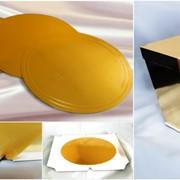 Упаковка-коробки для торта, подарочные , золотые серии Голд. фото