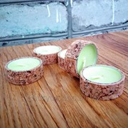 Чехлы для чайных свечей из пробкового дерева фото