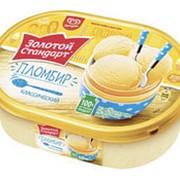 Мороженое ЗОЛОТОЙ СТАНДАРТ пломбир контейнер, 500г фото