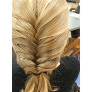 Плетение кос (колосок) фото