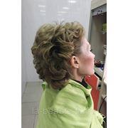 Кудри на короткие волосы фото