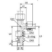 Соединение проходное с накидной гайкой FN / L-образное, уплотнение тип Е Тип: 6047...4 кольцо B4 фото
