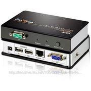 Aten CE700A Усилитель VGA/SVGA+Kbd+Mouse USB, 150 метр., HD-DB15+USB A-тип, Female, с KVM-шнуром, Б.П. 220> 5.3V, (по витой фото