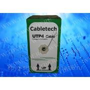 Кабель Cabletech UTP4 cat.5е, одножильный / 305м / медный фото