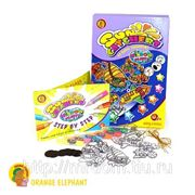 """Набор oe5wps/rt/24524 витражные краски """"кругосветное путешествие"""", в коробке 21,3*31,3*2,6см тм orange elephant (836114) фото"""