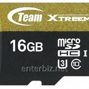 Карта памяти MicroSDHC 16GB UHS-I/U3 Class 10 Team Xtreem R90/W45MB/s + SD-adapter (TUSDH16GU303)