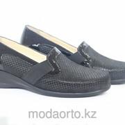 Туфли женские Леди Комфорт, на невысоком каблуке 7296 Леди Комфорт черный фото