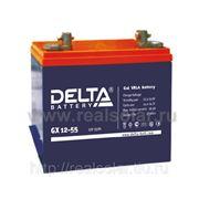 Аккумуляторная батарея Delta GX 55 А/ч гелевая фото