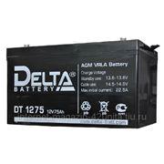 Аккумуляторная батарея Delta серии DT 12В, 75 Ач фото
