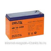 Аккумуляторная батарея HR 12-34W 12В, 9 Ач фото