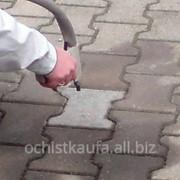 Очистка керамической и бетонной плитки фото